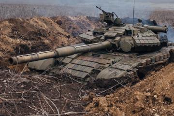 Okupanci 18 razy ostrzelali stanowiska Sił Zbrojnych Ukrainy –– jeden żołnierz zginął, a trzech zostało rannych