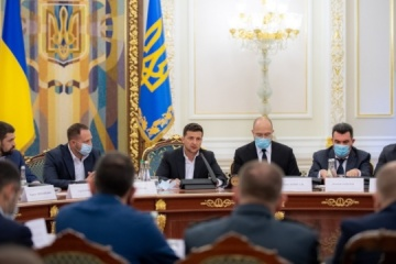 Shmyhal reports to Zelensky on results of state program to cope with coronavirus crisis