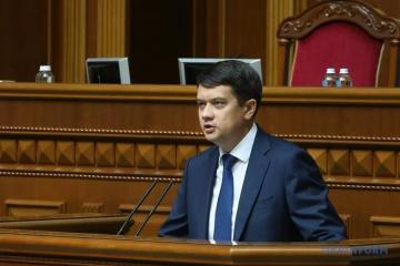 Razumkov no ve motivos para la disolución del parlamento