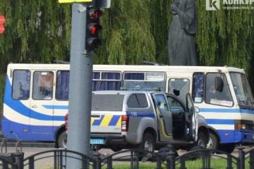 Security Service: Lutsk terrorist holding ten people hostage