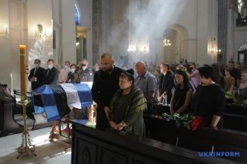 La cérémonie d'adieu à Mykola Ilyin a eu lieu aujourd'hui