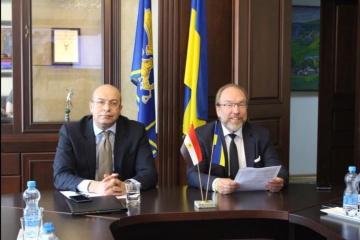 L'ambassadeur d'Égypte en Ukraine organise une réunion en coopération avec la chambre de commerce et d'industrie ukrainienne