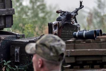Eine Verletzung der Waffenruhe in der Ostukraine