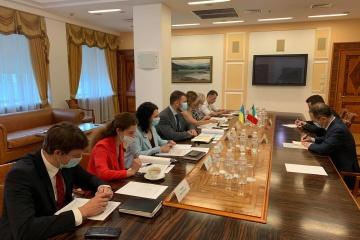 Krykliy y La Cecilia discuten la reanudación del trabajo del Consejo Ucraniano-Italiano de Cooperación Económica