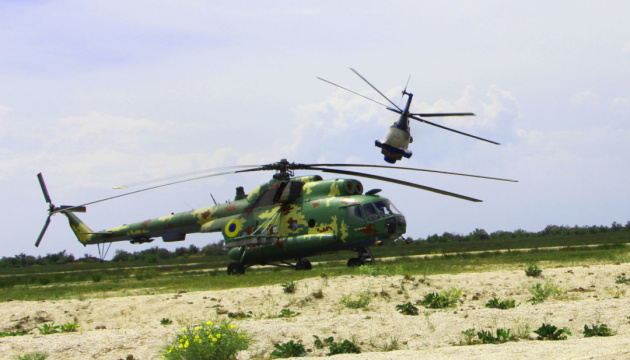 Украинские военные провели масштабные учения морской авиации