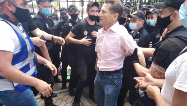 Протести шахтарів: Волинець заявляє, що поліція заважає ставити намети під ОП