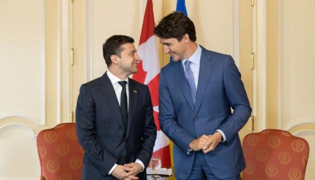 Зеленський привітав Трюдо з Днем Канади
