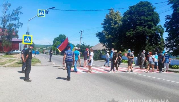 Пікетувальники знову заблокували трасу на Буковині