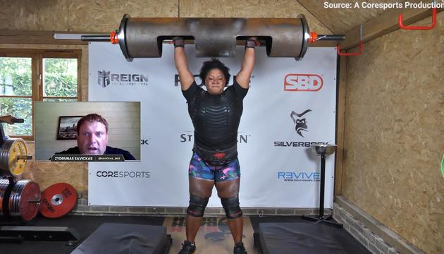Британка Томпсон побила світовий рекорд, піднявши колоду вагою 135 кг