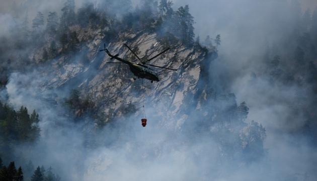 У горах Грузії третю добу гасять лісову пожежу