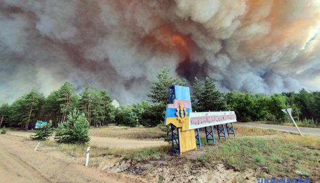 Пожары на Луганщине: эвакуацию пострадавших проводят восемь вертолетов