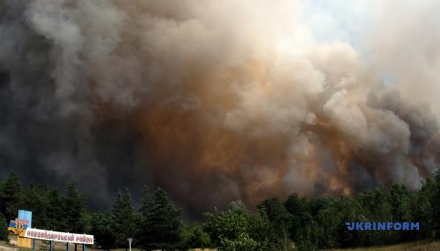 Рубіжне на Луганщині може залишитись без води через лісові пожежі