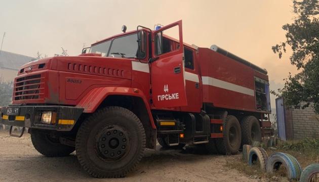 Пожежа на Луганщині: триває гасіння осередків тління