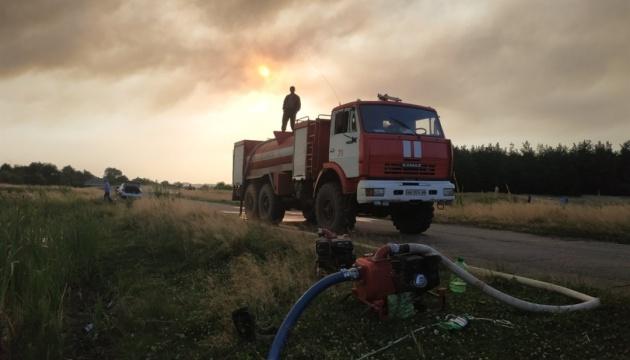 Из-за лесных пожаров в Северодонецке загорелась городская свалка