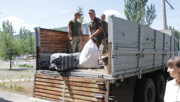 Latvia transfers over five tonnes of aid to blaze-hit Luhansk region