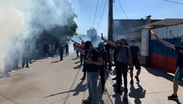 Нацкорпус и сторонники Шария сцепились в Харькове: есть пострадавшие