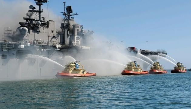 Пожежа на американському десантному кораблі: кількість постраждалих зросла до 21
