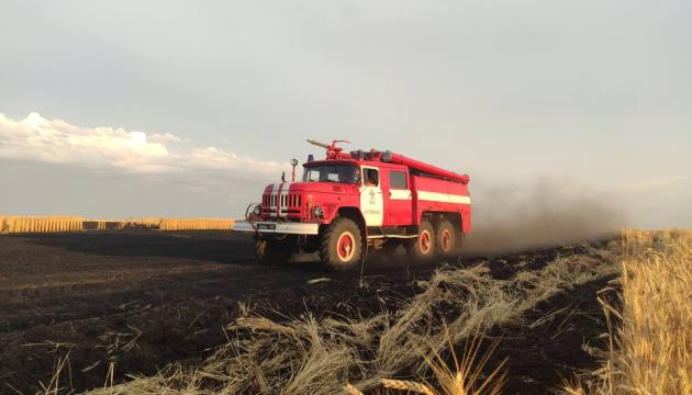 На Харьковщине сгорела пшеница на площади 1,2 га
