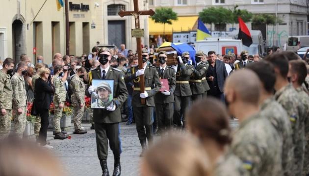 Во Львове попрощались с Героем Украины Тарасом Матвиивым
