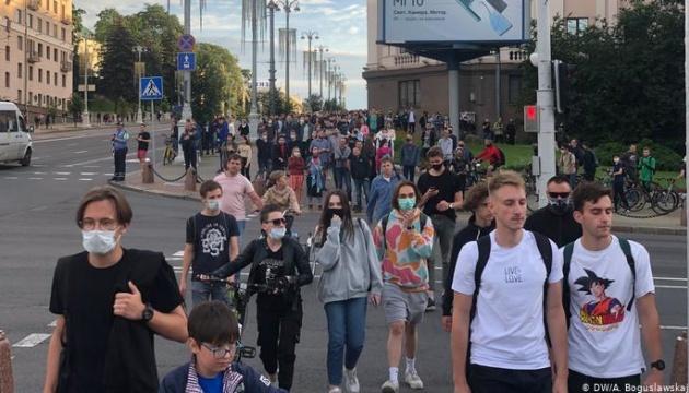 В Минске прошли акции в поддержку снятых с выборов соперников Лукашенко