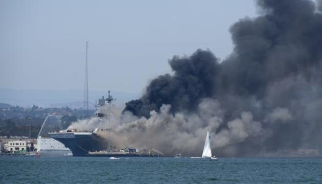 Пожежа на десантному кораблі США тривала чотири доби