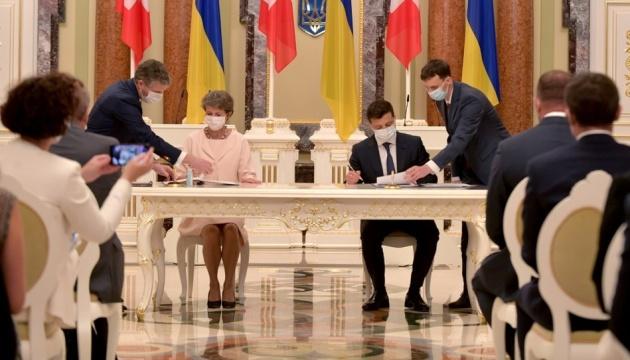 Volodymyr Zelensky et Simonetta Sommaruga ont signé un Mémorandum de partenariat