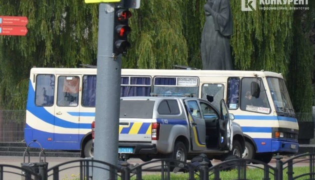 Security Service: Lutsk terrorist holding ten people hostage