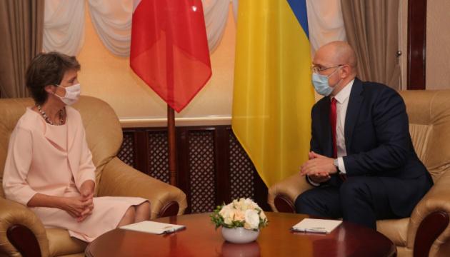 Шмигаль обговорив спільні економічні проєкти з президенткою Швейцарії