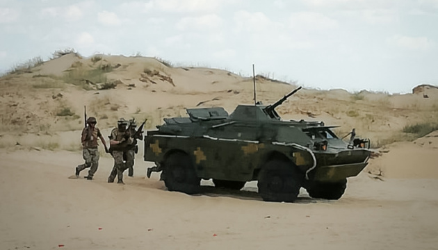 Морпехи провели учения с боевой стрельбой