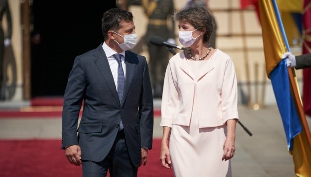 Swiss president's visit to Ukraine: Donbas, economic development, reforms