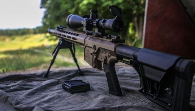 Ukraine's National Guard special forces armed with UAR-15 assault rifles