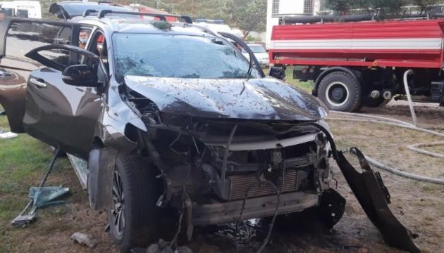 На Львівщині внаслідок вибуху автомобіля загинув чоловік