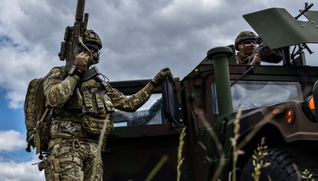 Occupiers open fire near four populated localities in Donbas
