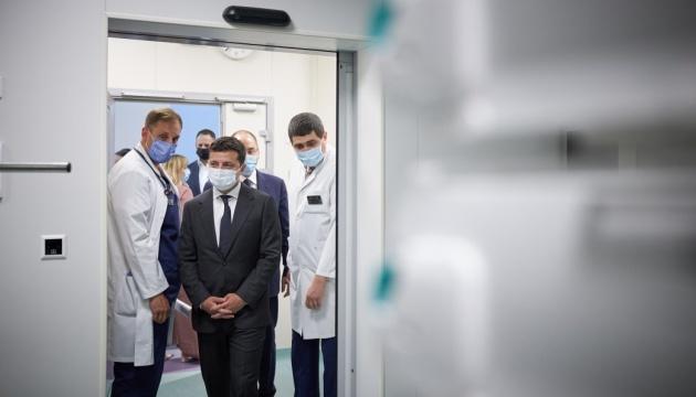 Volodymyr Zelensky a assisté à l'ouverture du nouveau bâtiment de l'hôpital d'enfant de Kyiv