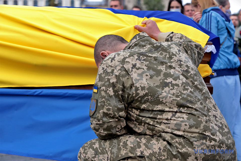 На Майдані попрощалися із Героєм України Тарасом Матвіївим / Фото: Геннадій Мінченко. Укрінформ