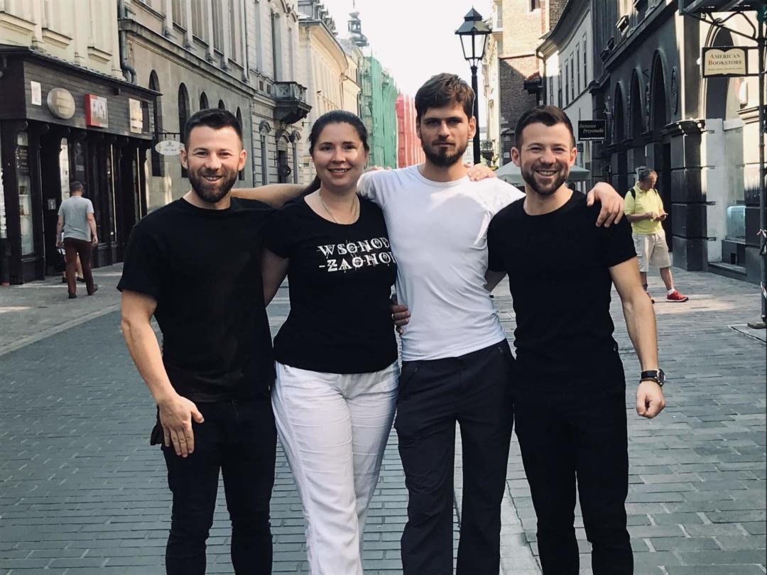 Активісти фонду «Активна інтеграція» (зліва направо): Микола Ганюшкін, Надія Мороз-Ольшанська, Якуб Матушевський, Олександр Ганюшкін.