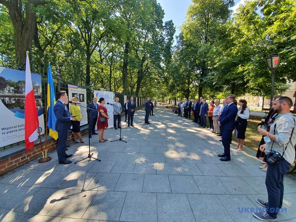 Стефанішина взяла участь у відкритті у Варшаві виставки щодо союзу Петлюри з Пілсудським