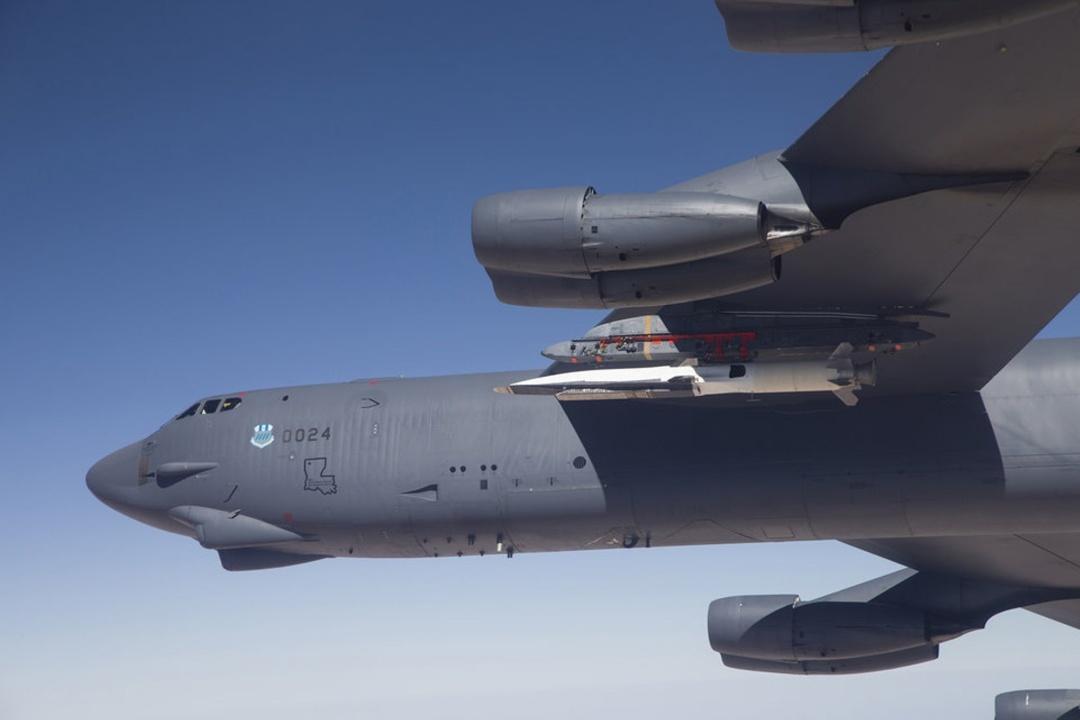 Літак В-52Н з гіперзвуковою ракетою AGM-183A ARRW на борту