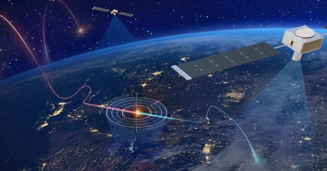Концепт-арт від Northrop Grumman, який демонструє можливий характер використання супутників для відстеження гіперзвукових ракет