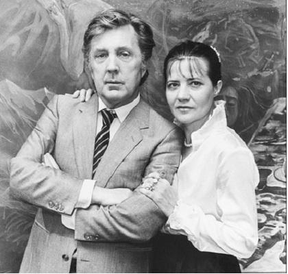 Илья Глазунов с женой Никой