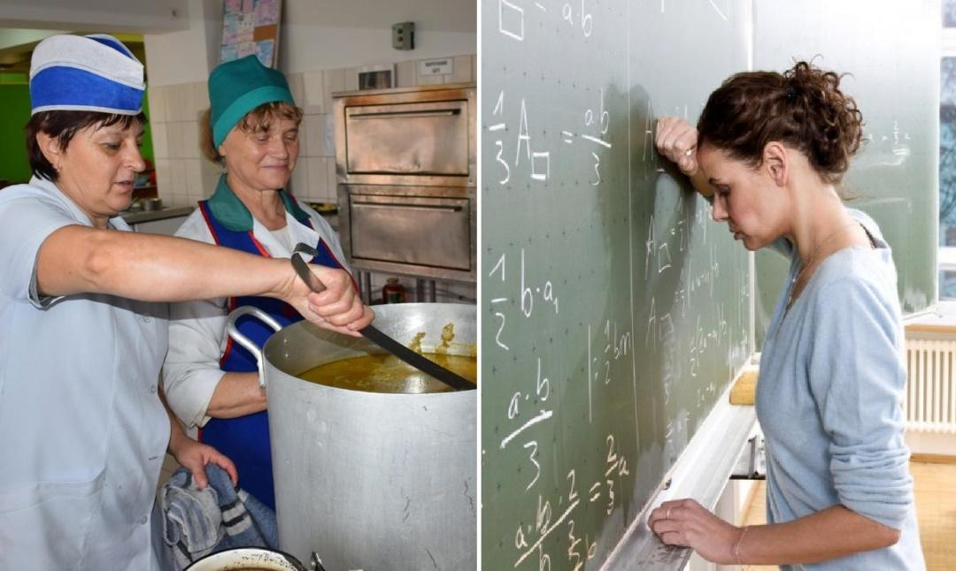 Кухар має 5-6 тарифний розряд, вчитель - 8-12
