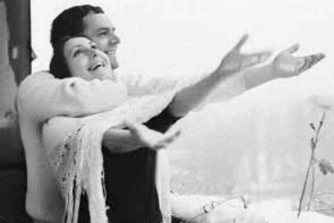 Лариса Кадочникова с Юрием Ильенко, 1976 г.