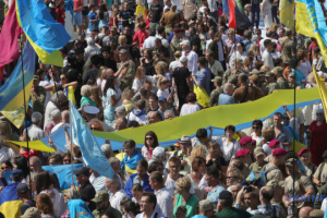 Marsch der Verteidiger der Ukraine am Tag der Unabhängigkeit