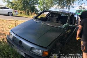 На Житомирщині перекинулося авто: травмувалися двоє дорослих і четверо дітей