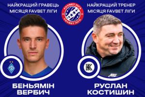Вербич и Костышин стали лучшими в УПЛ в июле