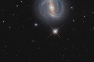 Hubble заснял удивительную спиральную галактику