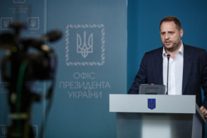 Yermak: Ukraine negotiating 3-5 new disengagement areas in Donbas