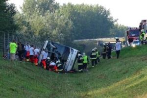 В Угорщині перекинувся автобус з туристами, є загиблий