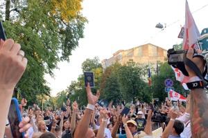Акция на Майдане и очереди под посольством — как в Киеве голосовали за президента Беларуси