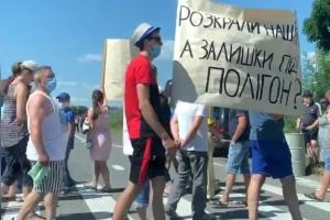 На Закарпатье перекрывали трассу Киев-Чоп из-за строительства мусороперерабатывающего завода